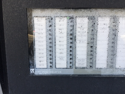 Notifier outdoor annunciator.